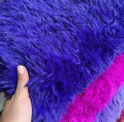 Плед покрывало травка мишка мохнатый мех 220х240 и 160х200 разные цвета