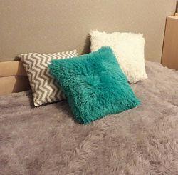 Наволочки на подушки травка мех размер 50х50 и 50х70 см разные цвета