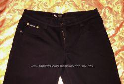 Черные женские штаны на флисе теплые большой размер  р 34-36