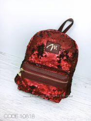 Рюкзак женский детский пайетки ушки зайчик разные подарок деткам