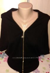 Черная накидка кофточки кофта свитер блуза кардиган