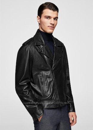 Кожаная байкерская куртка-косуха