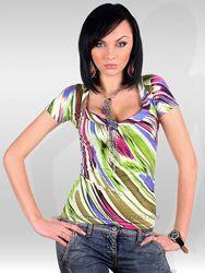 Яркие женские футболки  Италия - разные модели и размеры