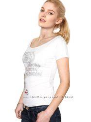 Женская модная белая футболка GF Ferre Италия - оригинал