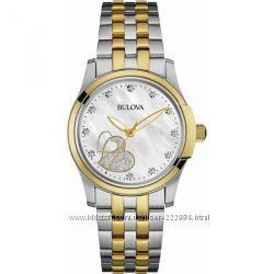 Bulova, бриллианты, женские наручные часы, подарок