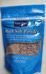 Индийская Черная соль Black Salt Powder,  Kala Namak, East End 100г.