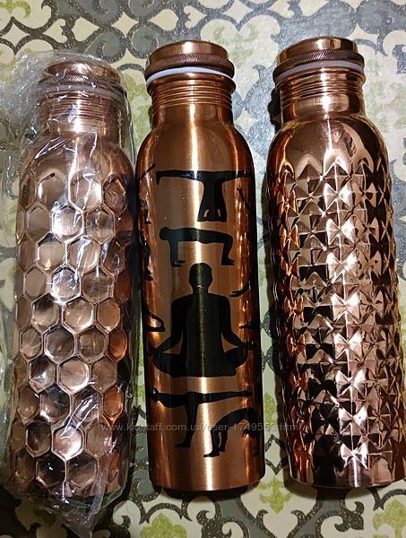 Бутылка из меди для воды , 950 мл. Индия