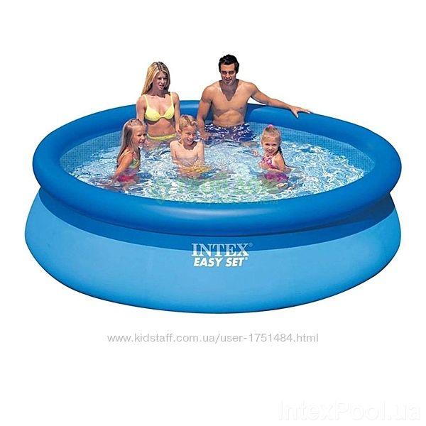 Надувной семейный бассейн Интекс Intex 28120 305x76