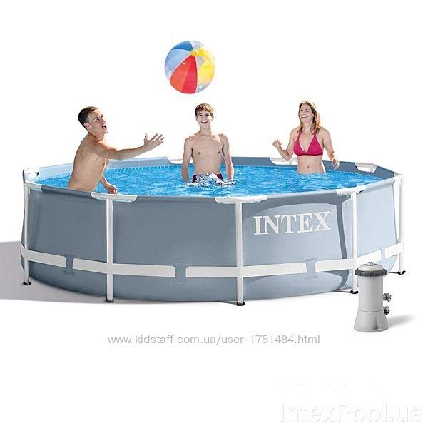 Каркасный семейный бассейн Интекс круглый 305х76 26702 с фильтром насосом