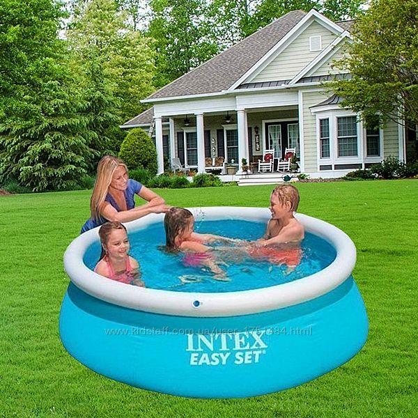 Надувной наливной семейный бассейн Интекс детский 183х51см Intex