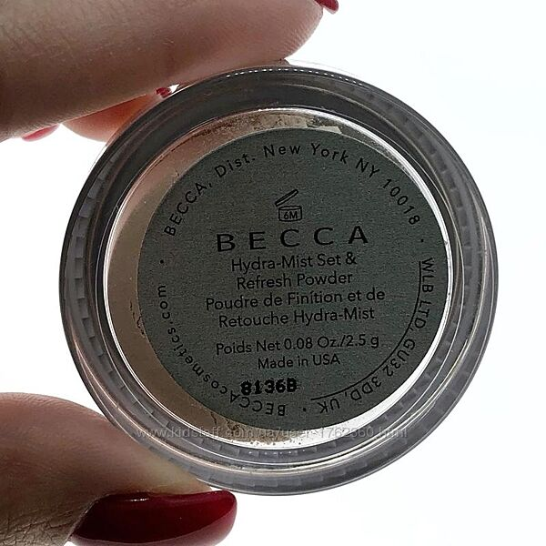 Пудра для лица Becca - Hydra-Mist Set & Refresh Powder мини