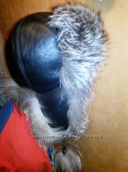 шапка-ушанка с чернобуркой