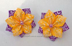 Заколочки - резиночки Веселые цветочки