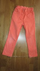 Оранжевые джинсы Некст размер 3-4 года