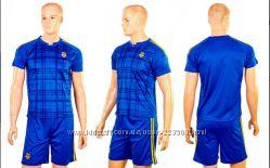 Качественная форма футбольная сборной Украины Детская. Синяя.