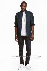 Черные брюки джинсы мужские Slim Fit H&M р. 32, 33, 34