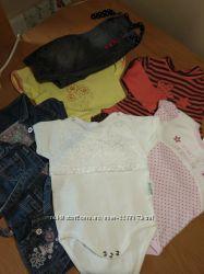 Бодик,  платье,  джинсы на девочку 62-68