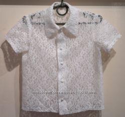Гипюровая блуза на 5-6 л