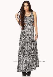 Длинное эффектное  платье Forever21