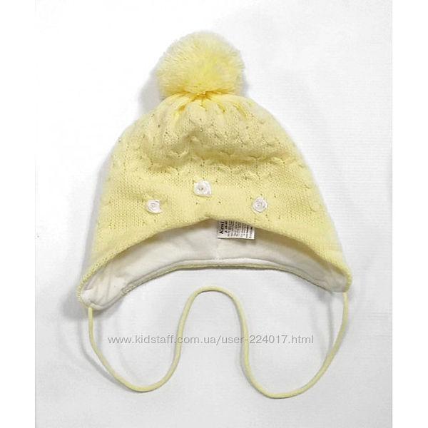 Зимняя шапка Кені ТМ Babasik Размеры - 68-74, 80-86