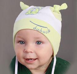 Демисезонная шапочка для мальчика TM Babasik Размеры - 68, 74, 86
