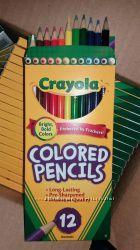 Цветные карандаши Crayola 12 шт , 55грн  В наличии