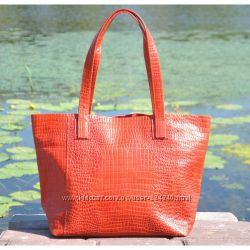 Кожаная женская сумка тоут Флоренция