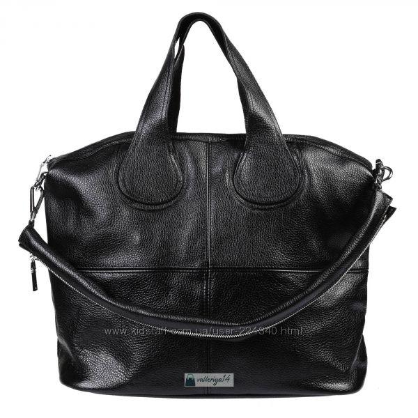 Шикарные сумки из натуральной кожи в универсальном черном цвете