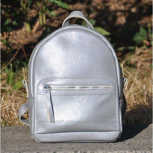 Стильные серебряные сумки из натуральной кожи
