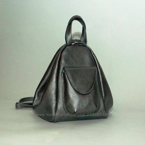 Сумка-рюкзак из натуральной кожи Асти разные цвета