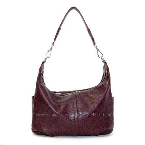 Кожаная женская сумка разные цвета