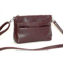 Кожаная женская сумка кроссбоди разные цвета