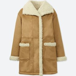 Пальто на шерпе Uniqlo 7-8 подарок