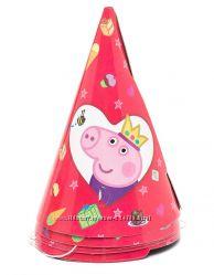 Скатерть праздничная Peppa Pig, свечи Peppa, тарелки Barbie