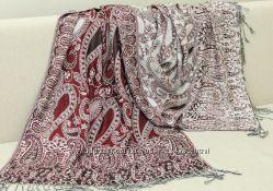 Шикарные двухсторонние палантины. Кашемир. Новая коллекция