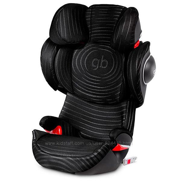 Автокресло GB Elian-fix Plus Lux Black 15-36кг группа 2-3