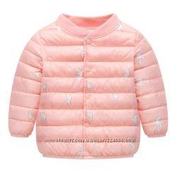 Куртки для девочек. Красная и пудра