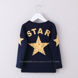 Детская футболка с длинным рукавом STAR