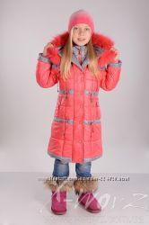Пальто пуховик для девочек