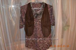 Блузка с жилеткой