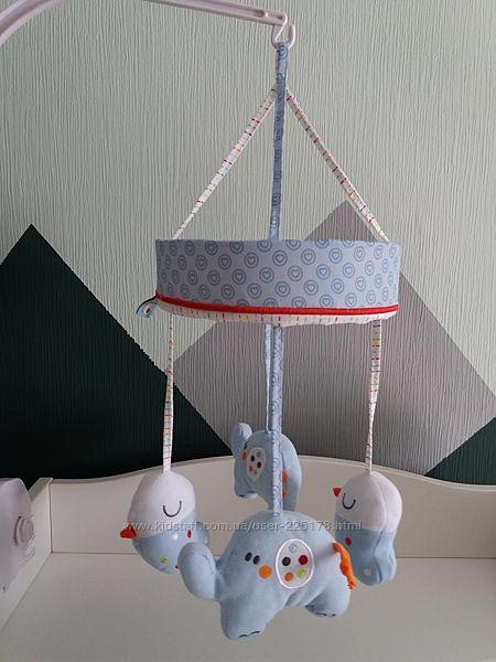 Мобиль мягкая игрушка  слоник, птичка на кроватку