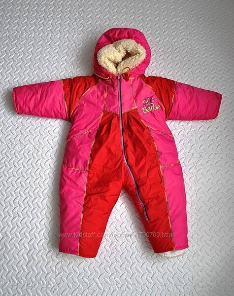 Комбинезон BARBIE  junior shop 74-82 см розовый теплый зимнийдемисезонный