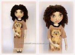 Портретная текстильная кукла