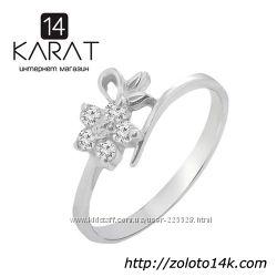 Золотое кольцо с бриллиантами 0, 15 карат 17 мм. Новое Код 16240