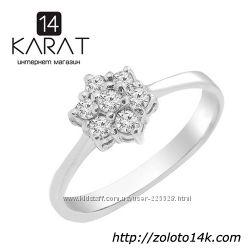 Золотое кольцо с бриллиантами 0, 21 карат 17, 5 мм. Новое Код 16340
