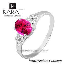 Золотое кольцо с рубином 1, 00 карат 16, 5 мм. Новое Код 17134