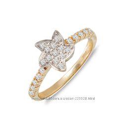 Золотое кольцо с бриллиантами 0, 54 карат 18 мм. НОВОЕ