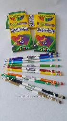 Цветные карандаши Crayola с ластиком 10шт