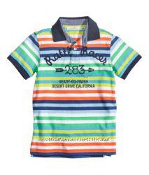 Яркие футболки-поло H&M для мальчика на  4-6-8 лет