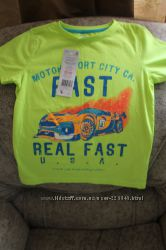 Яркие неоновые футболки F&F для мальчика на 4-6 лет